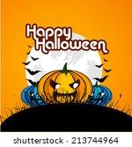 vector design for happy... | Shutterstock .eps vector #213744964