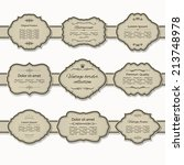 frame and label set on ribbon.... | Shutterstock .eps vector #213748978