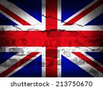 United Kingdom Flag With Grung...