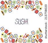 sushi vector illustration | Shutterstock .eps vector #213758020