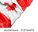canada wavy flag with white | Shutterstock . vector #213764653