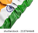 india wavy flag with white | Shutterstock . vector #213764668