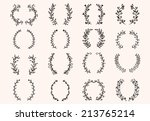 the set of hand drawn vector... | Shutterstock .eps vector #213765214