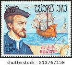 laos   circa 1983  a stamp... | Shutterstock . vector #213767158