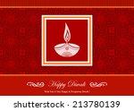 decorative diwali greeting card   Shutterstock .eps vector #213780139