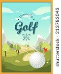 golf ball and a beautiful... | Shutterstock .eps vector #213783043