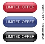 limited offer buttons | Shutterstock .eps vector #213783856