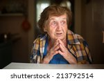 close up shot of old woman... | Shutterstock . vector #213792514
