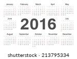 Vector Circle Calendar 2016....