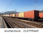 freight wagons cargo containers ... | Shutterstock . vector #213799669