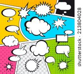 comic speech bubbles and comic... | Shutterstock . vector #213804028