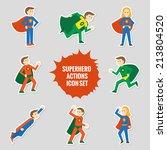 set of comic character...   Shutterstock . vector #213804520