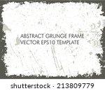 abstract grunge frame. vector... | Shutterstock .eps vector #213809779