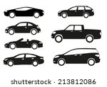 Stock vector silhouette cars on a white background 213812086
