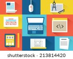 vector set of equipment for...