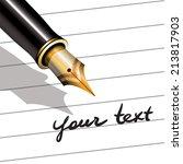 fountain pen | Shutterstock . vector #213817903