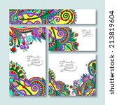 collection of decorative floral ... | Shutterstock . vector #213819604