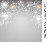 christmas glossy star... | Shutterstock .eps vector #213819814