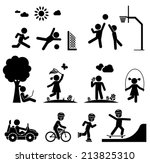 children play on playground.... | Shutterstock .eps vector #213825310