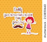 abstract father's day... | Shutterstock .eps vector #213850660
