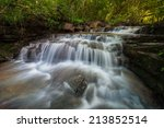 waterfall pangsida national... | Shutterstock . vector #213852514