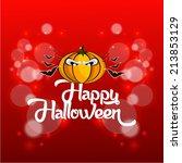 vector design for halloween... | Shutterstock .eps vector #213853129