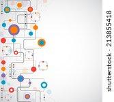 network concept   social media | Shutterstock .eps vector #213855418