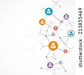 network concept   social media   Shutterstock .eps vector #213855469