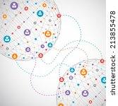 network concept   social media | Shutterstock .eps vector #213855478
