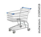 shopping cart | Shutterstock .eps vector #213856018