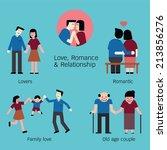 set of love  lovers  couple ... | Shutterstock .eps vector #213856276