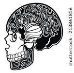 skull | Shutterstock .eps vector #213861856