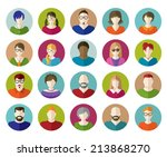 set of people flat icons. | Shutterstock .eps vector #213868270