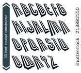 3d retro typeset with lines in... | Shutterstock .eps vector #213882550