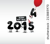 funny greeting card   happy new ... | Shutterstock .eps vector #213885970