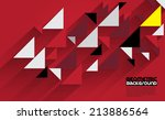 abstract 3d geometrical design | Shutterstock .eps vector #213886564