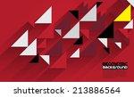 abstract 3d geometrical design | Shutterstock .eps vector #213886564