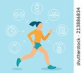 vector fitness infographics... | Shutterstock .eps vector #213886834