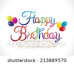 abstract happy birthday... | Shutterstock .eps vector #213889570