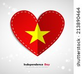 independence day. love of... | Shutterstock .eps vector #213890464