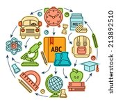 education sketch icons set... | Shutterstock . vector #213892510