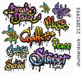 expressive collection of... | Shutterstock . vector #213892993