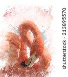 watercolor digital painting of  ...   Shutterstock . vector #213895570