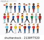 men talk and gather together... | Shutterstock .eps vector #213897520