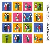 family people figures website... | Shutterstock . vector #213897964