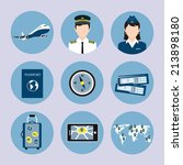 airlines travel concept icons... | Shutterstock . vector #213898180