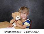 """back to school"" concept  child ... | Shutterstock . vector #213900064"