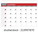 November 2015 Planning Calendar