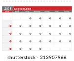 september 2015 planning calendar | Shutterstock .eps vector #213907966