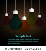 Vector Light Bulb Icons With...